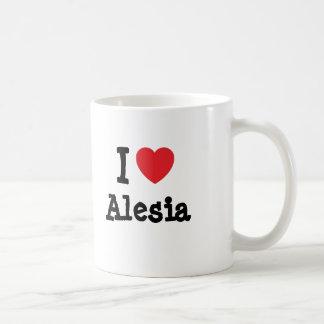 Amo la camiseta del corazón de Alesia Taza De Café