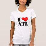 Amo la camiseta del corazón de ATL Remeras