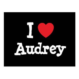 Amo la camiseta del corazón de Audrey Postal