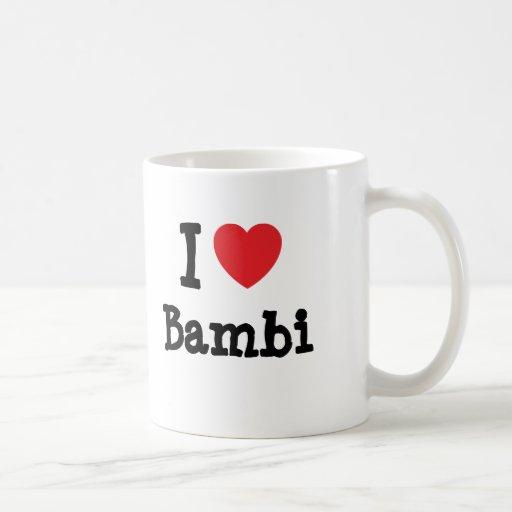 Amo la camiseta del corazón de Bambi Taza De Café