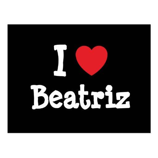Amo la camiseta del corazón de Beatriz Postales