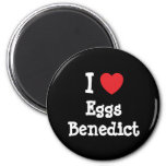 Amo la camiseta del corazón de Benedicto de los hu Imanes De Nevera