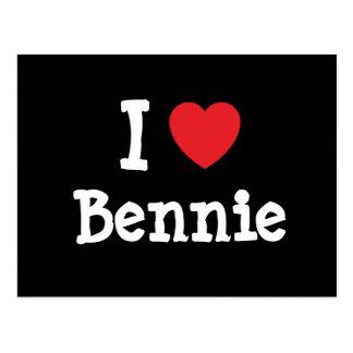 Amo la camiseta del corazón de Bennie Postal