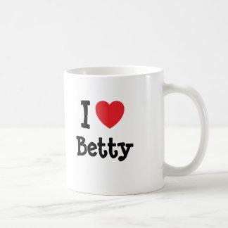 Amo la camiseta del corazón de Betty Taza De Café