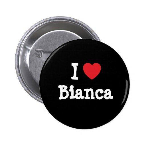 Amo la camiseta del corazón de Bianca Pin