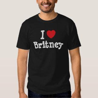 Amo la camiseta del corazón de Britney Playera
