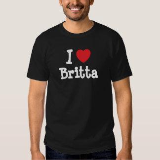 Amo la camiseta del corazón de Britta Remera