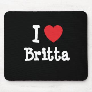 Amo la camiseta del corazón de Britta Tapetes De Raton