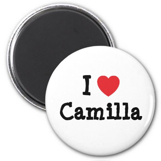 Amo la camiseta del corazón de Camila Imanes De Nevera