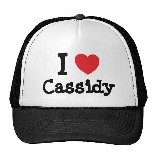 Amo la camiseta del corazón de Cassidy Gorros Bordados