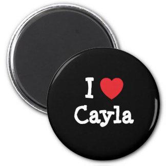 Amo la camiseta del corazón de Cayla Imanes