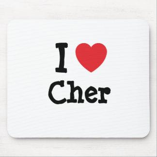 Amo la camiseta del corazón de Cher Tapetes De Ratón