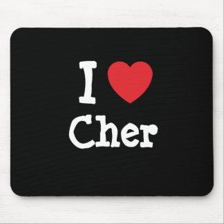 Amo la camiseta del corazón de Cher Alfombrillas De Ratón