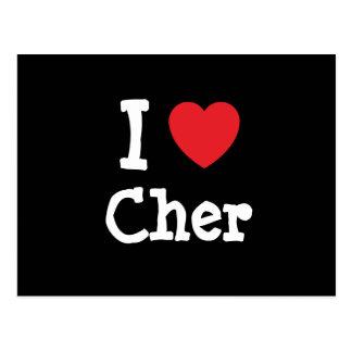 Amo la camiseta del corazón de Cher Postal
