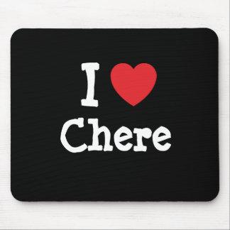 Amo la camiseta del corazón de Chere Tapetes De Raton