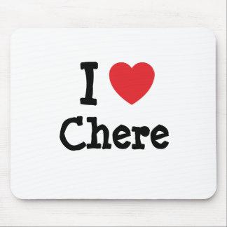 Amo la camiseta del corazón de Chere Tapete De Ratones