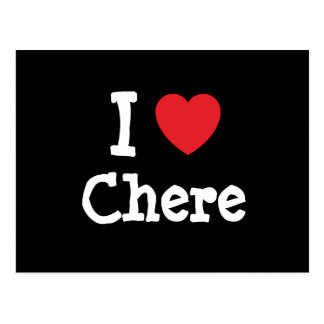 Amo la camiseta del corazón de Chere Postal
