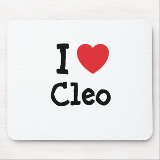 Amo la camiseta del corazón de Cleo Alfombrilla De Ratón