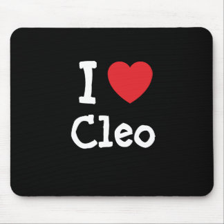 Amo la camiseta del corazón de Cleo Alfombrillas De Ratones