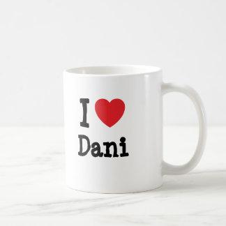 Amo la camiseta del corazón de Dani Taza De Café