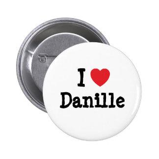 Amo la camiseta del corazón de Danille Pin