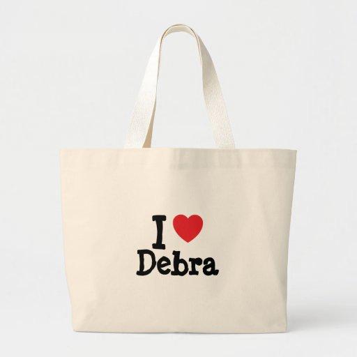 Amo la camiseta del corazón de Debra Bolsa
