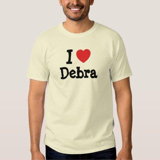 Amo la camiseta del corazón de Debra Playera