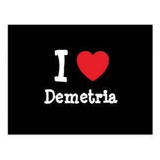 Amo la camiseta del corazón de Demetria Postal