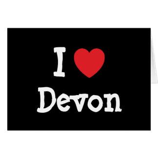 Amo la camiseta del corazón de Devon Tarjeta De Felicitación