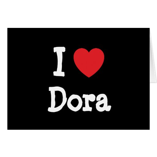 Amo la camiseta del corazón de Dora Tarjetas