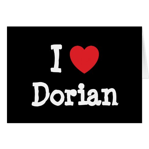 Amo la camiseta del corazón de Dorian Tarjeta