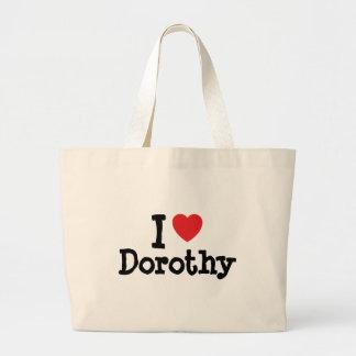 Amo la camiseta del corazón de Dorothy Bolsas Lienzo