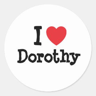 Amo la camiseta del corazón de Dorothy Etiquetas