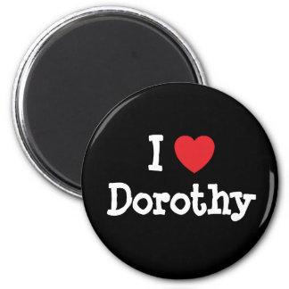Amo la camiseta del corazón de Dorothy Iman