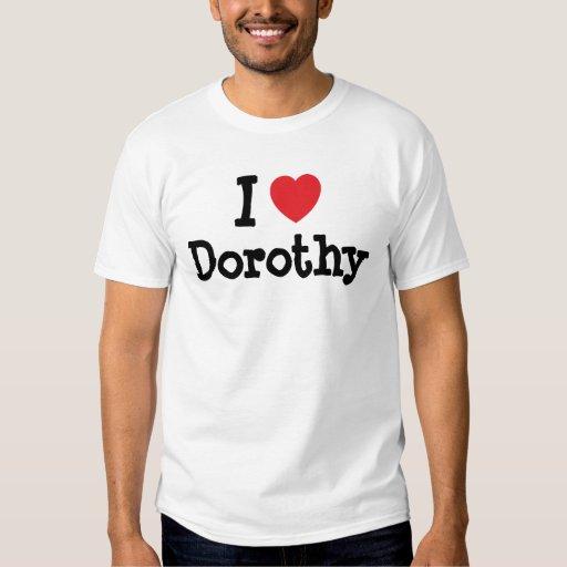Amo la camiseta del corazón de Dorothy Poleras