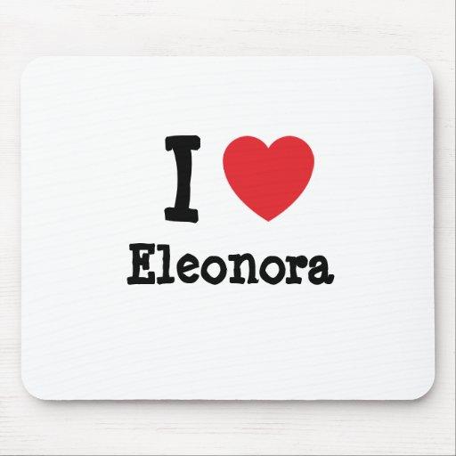 Amo la camiseta del corazón de Eleonora Tapetes De Raton
