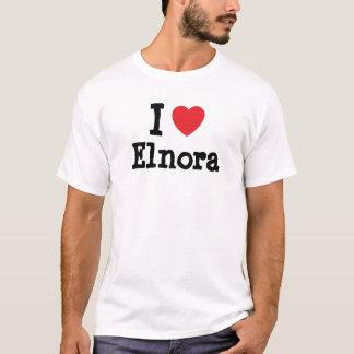 Amo la camiseta del corazón de Elnora