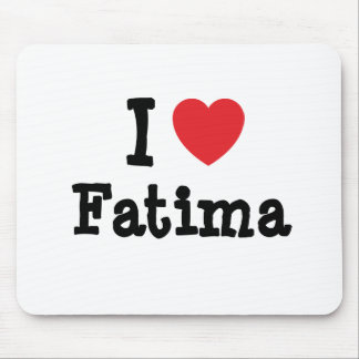 Amo la camiseta del corazón de Fátima Alfombrillas De Ratón