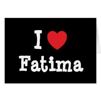 Amo la camiseta del corazón de Fátima Felicitacion