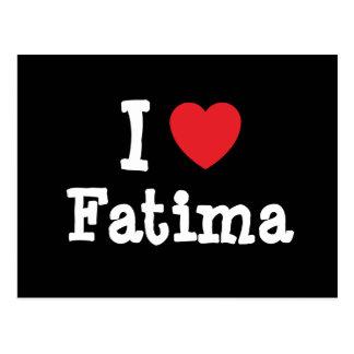 Amo la camiseta del corazón de Fátima Postal