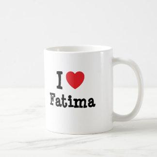 Amo la camiseta del corazón de Fátima Tazas De Café
