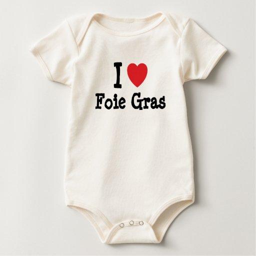 Amo la camiseta del corazón de Foie Gras Enteritos