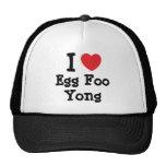 Amo la camiseta del corazón de Foo Yong del huevo Gorro De Camionero
