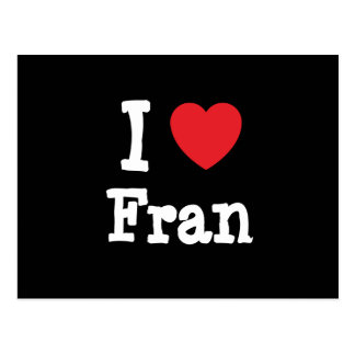 Amo la camiseta del corazón de Fran Postal