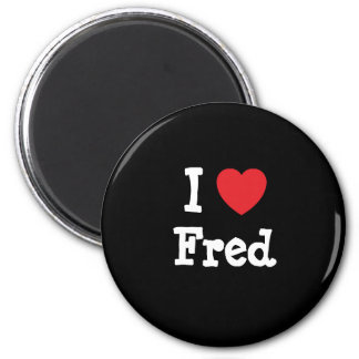 Amo la camiseta del corazón de Fred Iman