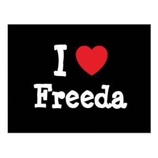 Amo la camiseta del corazón de Freeda Postal