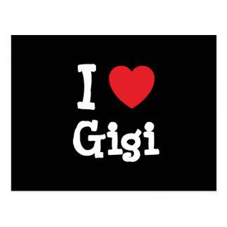 Amo la camiseta del corazón de Gigi Postal