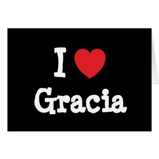 Amo la camiseta del corazón de Gracia Tarjeton