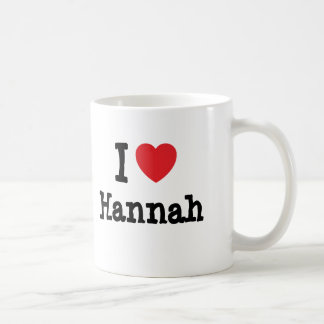 Amo la camiseta del corazón de Hannah Taza