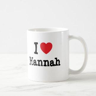 Amo la camiseta del corazón de Hannah Taza Clásica